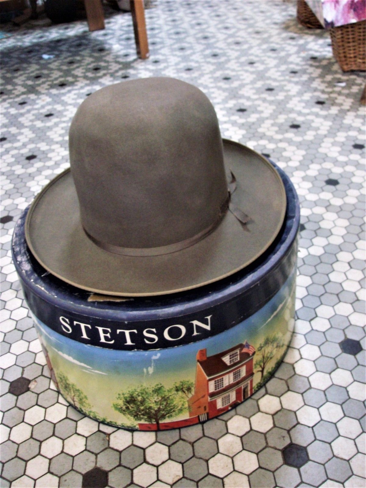a875b803267a7 Men s Vintage Royal Stetson Stratoliner Open Road   Fedora Hat w Box sz 7 1  8
