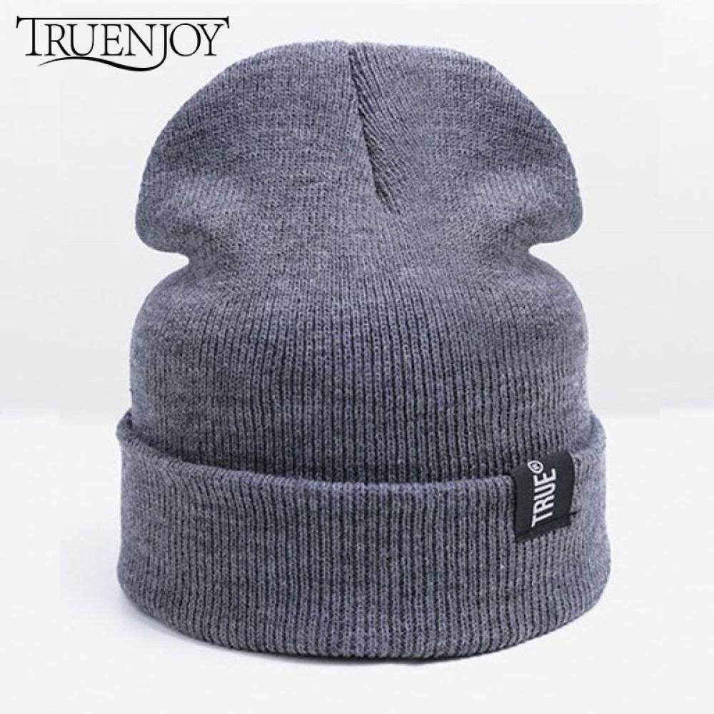 Beanies for Men Women Girl Boy Fashion Knitted Winter Hat Solid Hip-Hop Skullies Hat Unisex Cap