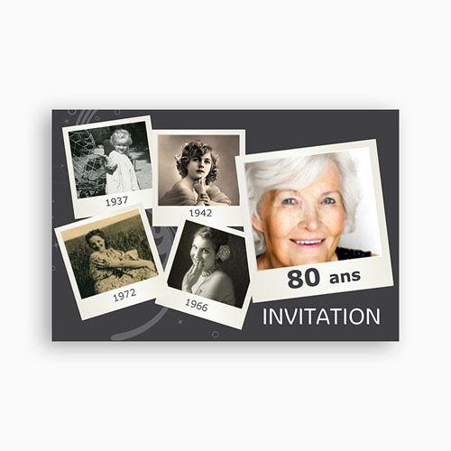 Invitation Anniversaire Adulte - Retrospective 2330