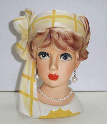 Rare Vintage 1950s 1960s Relpo K1941 Lady Head Vase 7 1 4 Excellent Condition In 2020 Head Vase Vintage Vases Vase