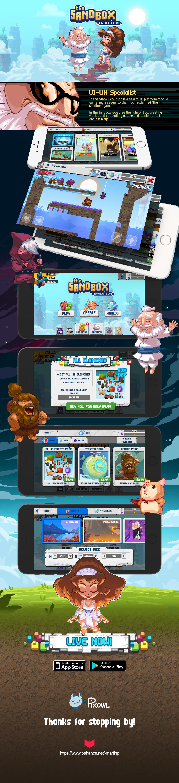 The Sandbox Evolution on Behance Sandbox, Mobile game