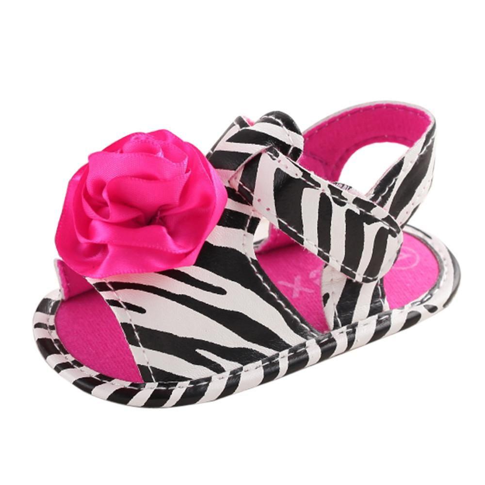 deae460416df Flower Stripe Anti-slip Crib Sandals. Baby Girl SandalsBaby Girl ShoesGirls  ...