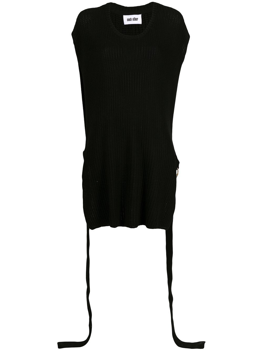 Each X Other Slized chunky-knit jumper - Black