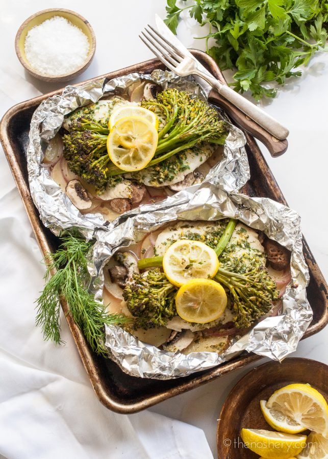 Herbed Tilapia and Vegetable Foil Packets   The Noshery