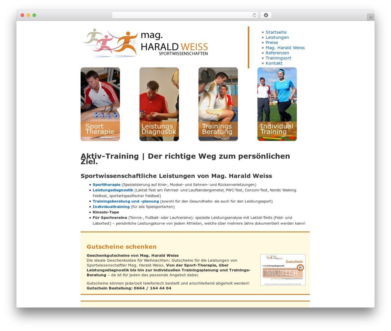 Aktivtraining Wordpress Template Aktivtraining At Wordpress