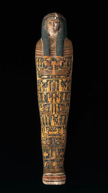Cartonnage mummy case and mummy of Ankhpefhor  Third