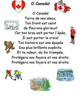 O Canada In French O Canada French Canadian National Anthem O Canada Lyrics