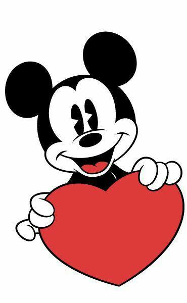 Mickey Mouse Corazón Rojo Amor Y Amistad San Valentin Febrero 14