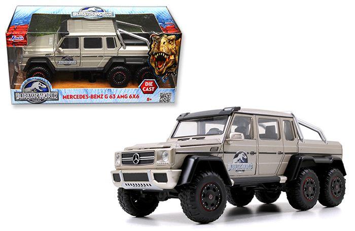 Jada 1 24 jurassic world mercedes benz g83 amg 6x6 silver for Mercedes benz usa accessories