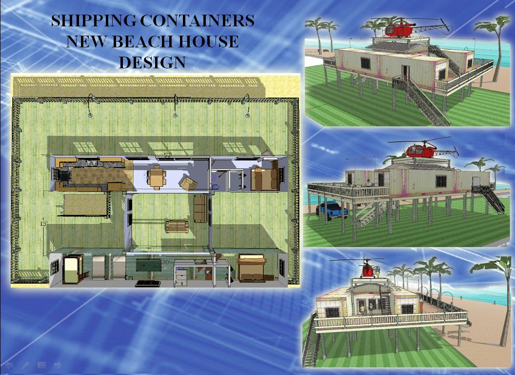 underground shipping container homes | shipping containers beach