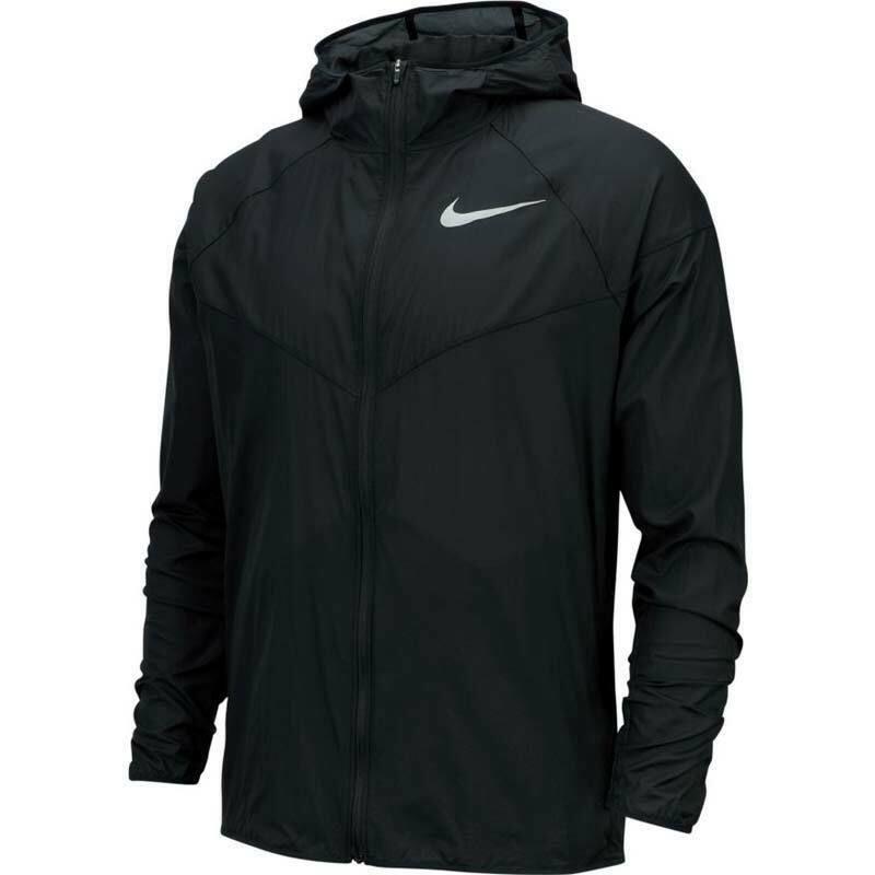 Mens nike windrunner run repel jacket hooded black