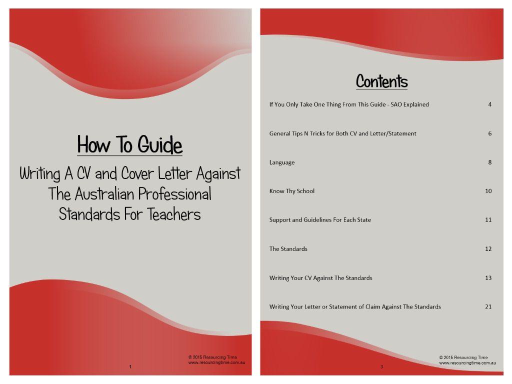 Job Application Guide With CV Templates | Cv template, Teaching ...