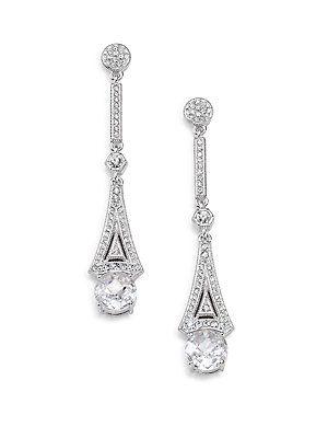 Deco Linear Drop Earrings