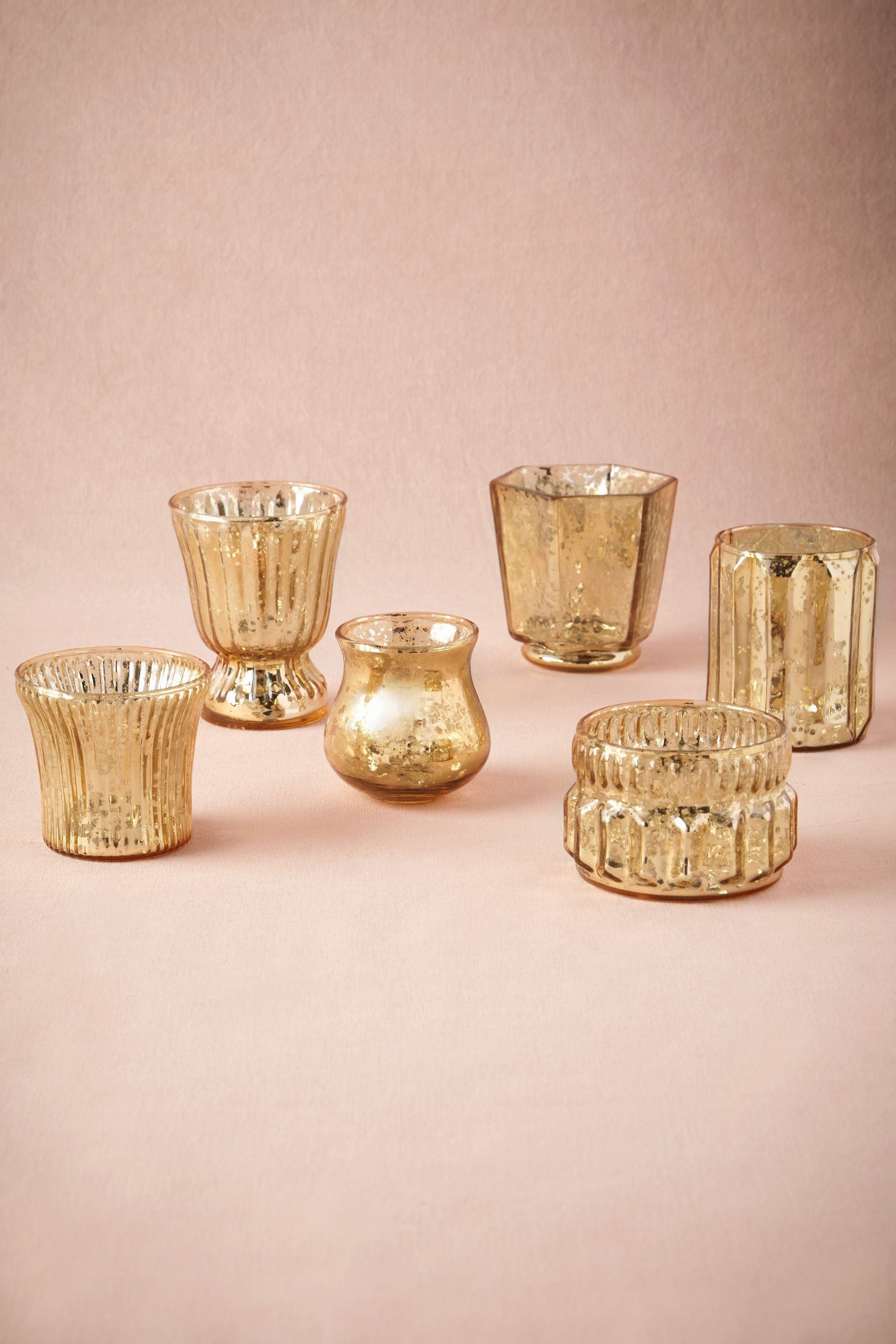 BHLDN Mixed Mercury Votives (also in silver)