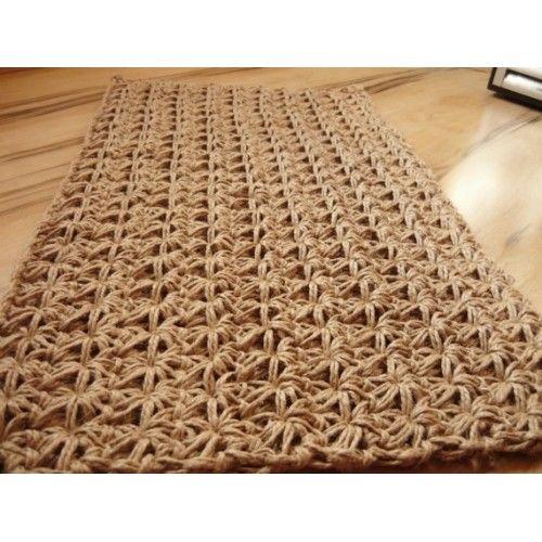 Unique Doormat Crochet Jute Rope Door Rug Handmade