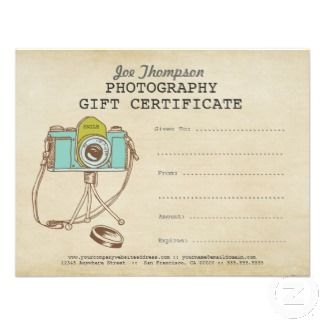photography gift certificate template sweet gift idea for professional photographers for more photographer gift