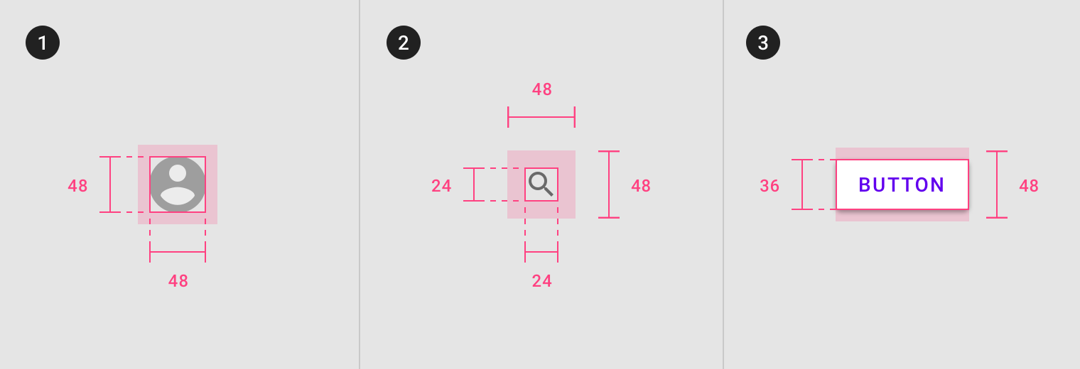 Optimal Size And Spacing For Mobile Buttons Optimization Ux Design Principles Web Design Tips
