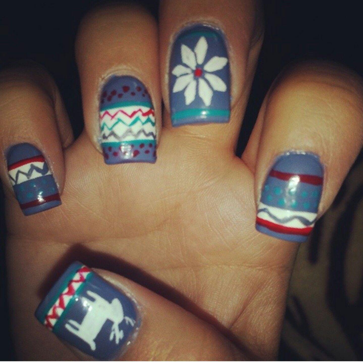 Christmas nail design #winternails #december #christmasnailart ...