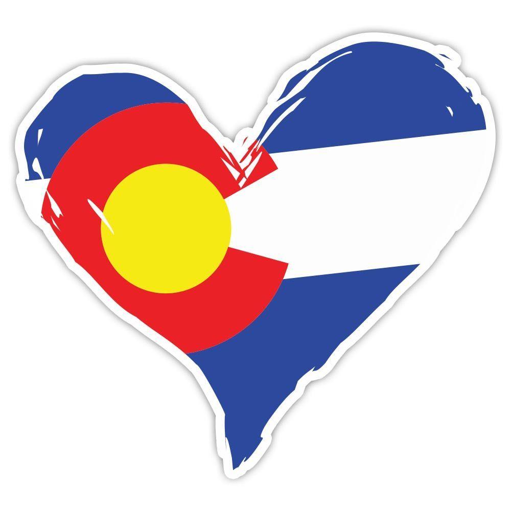 5 YR VINYL DECAL COLORADO STATE FLAG STICKER