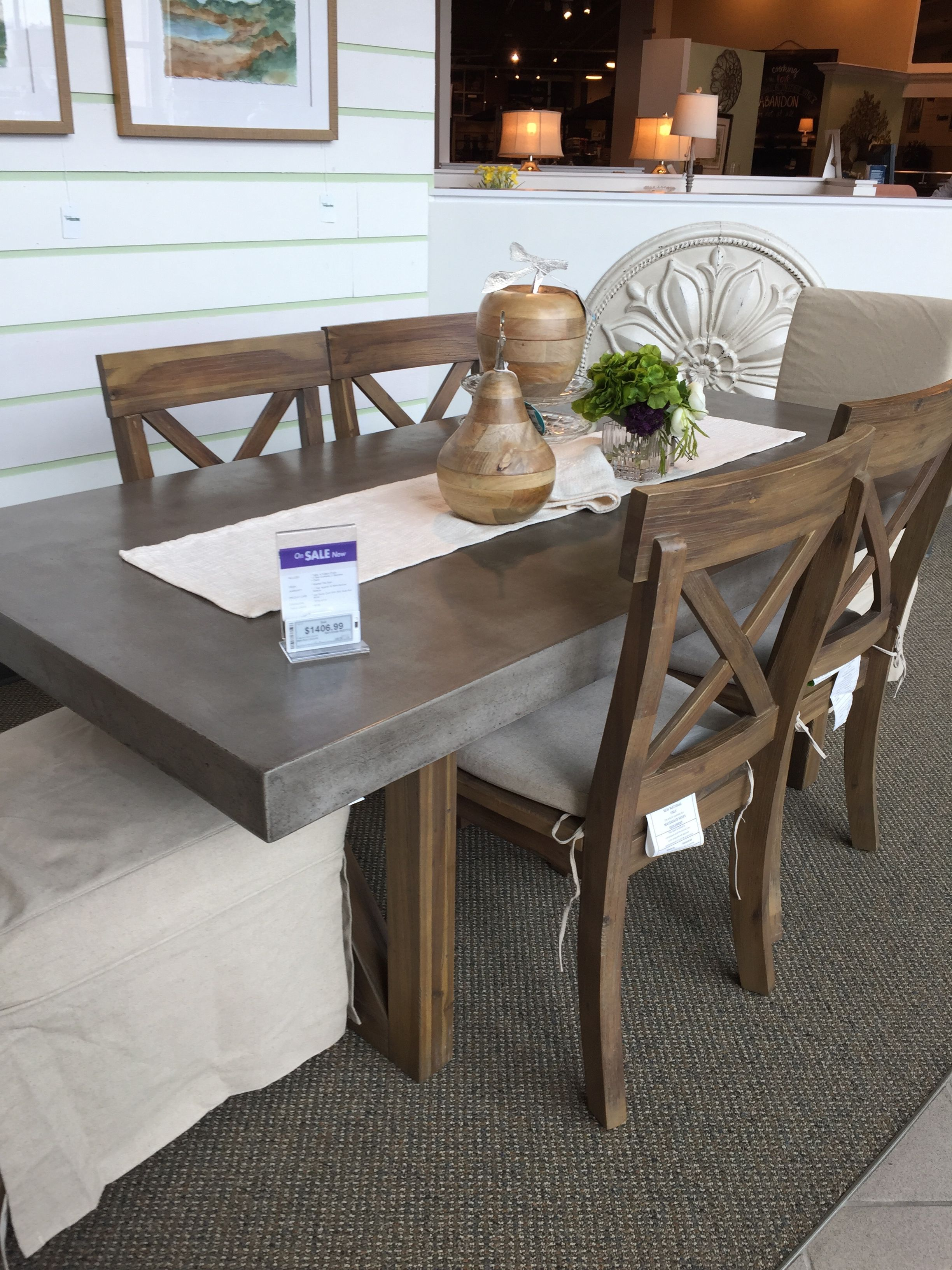 Concrete And Wood Table Nebraska Furniture Mart Wood Table Table Dining Table