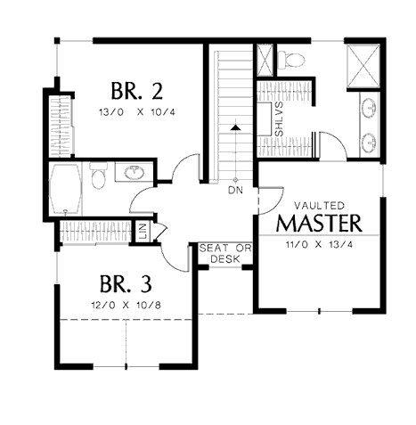 Plano de casa moderna con oficina y garaje house for Planos de oficinas modernas