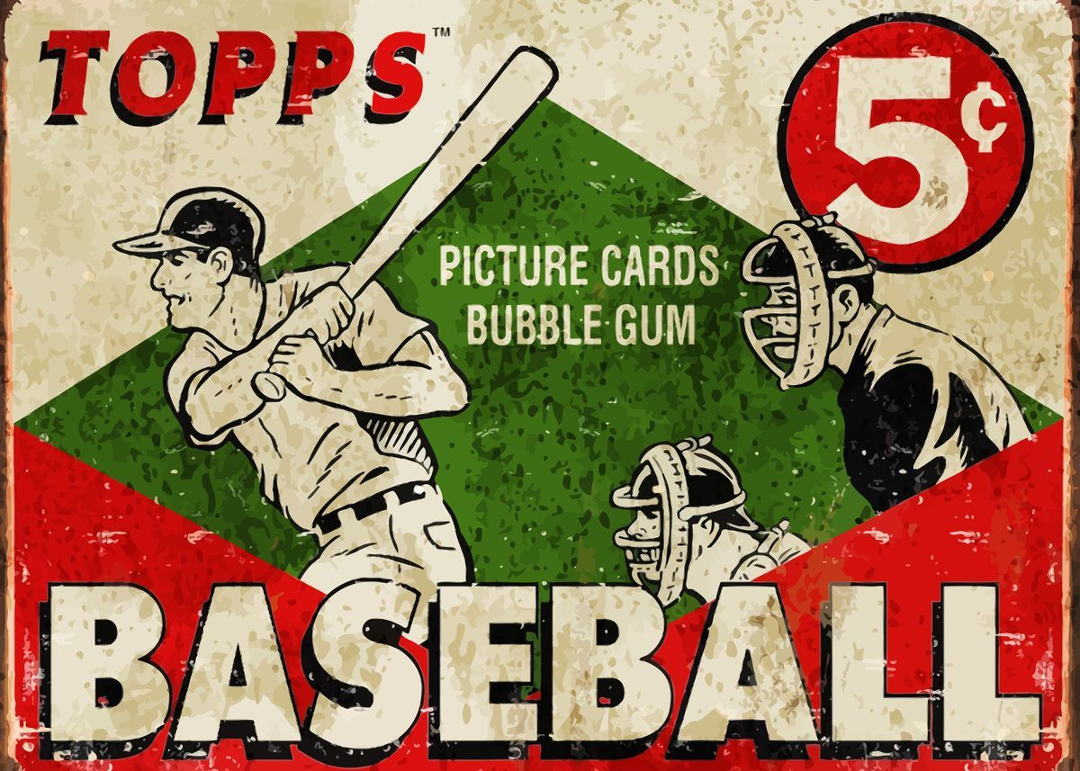 Vintage Baseball Vintage Posters Poster Print Metal Posters Displate In 2020 Baseball Posters Vintage Baseball Vintage Tin Signs