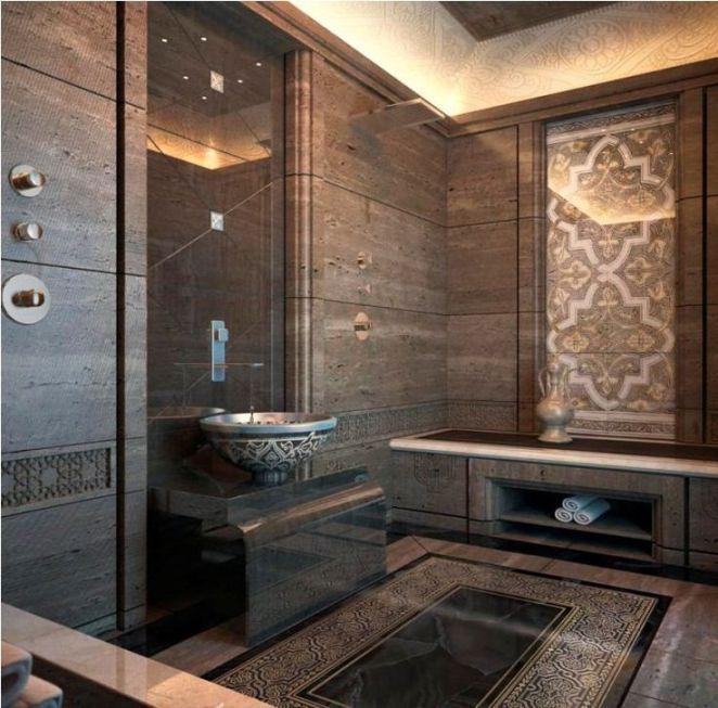 Idée décoration Salle de bain salle de bains marocaine carrelage