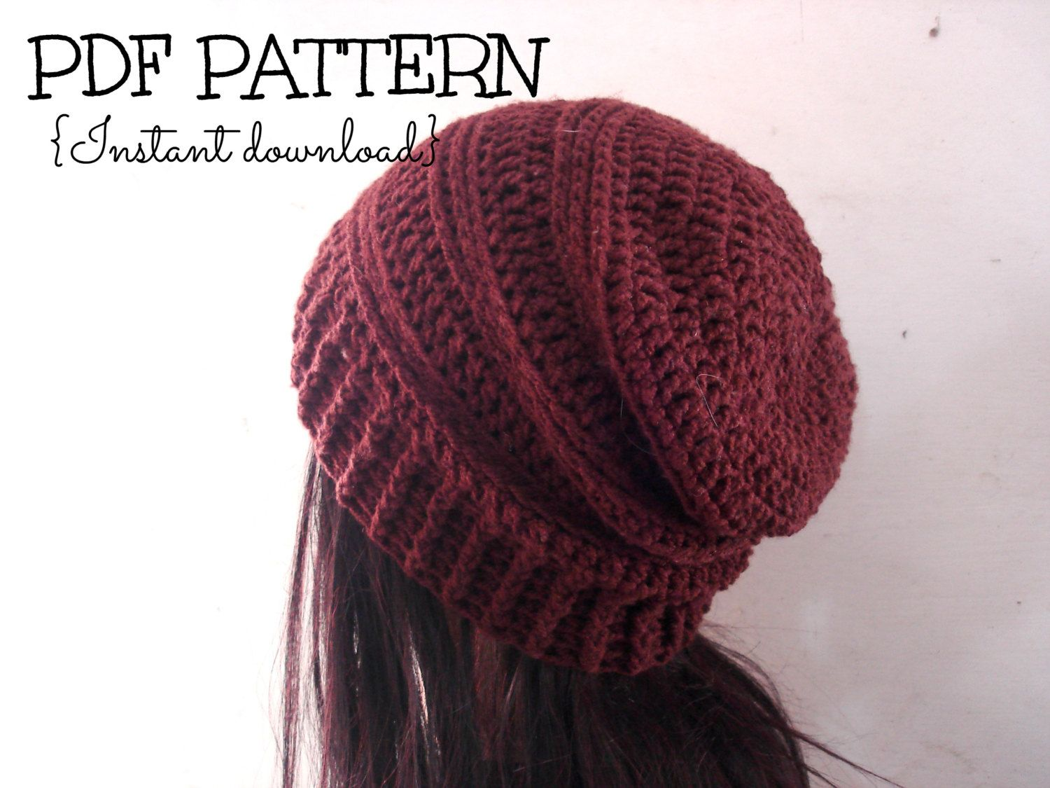 4095 best crochet beanie hat patterns images on pinterest slouchy hat pattern crochet hat pattern crochet slouchy beanie the chocolate slouchy hat adult size pattern bankloansurffo Gallery