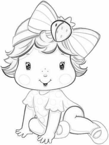 Moranguinho Desenho Moranguinho Bebe Para Colorir E Moranguinho