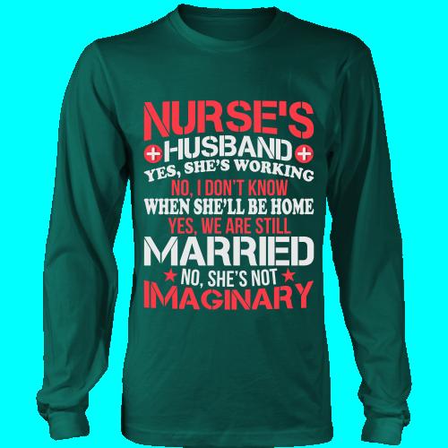 NURSES HUSBAND - LONG SLEEVE SHIRT