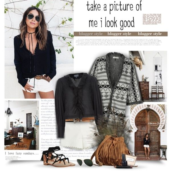 A fashion look from April 2016 by thewondersoffashion featuring DAY Birger et Mikkelsen, Polo Ralph Lauren, Moschino Cheap & Chic, Joie, Yves Saint Laurent, Ray...