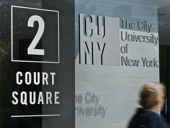 Poulin Morris Cuny School Of Law Wayfinding System Environmental Graphics Wayfinding