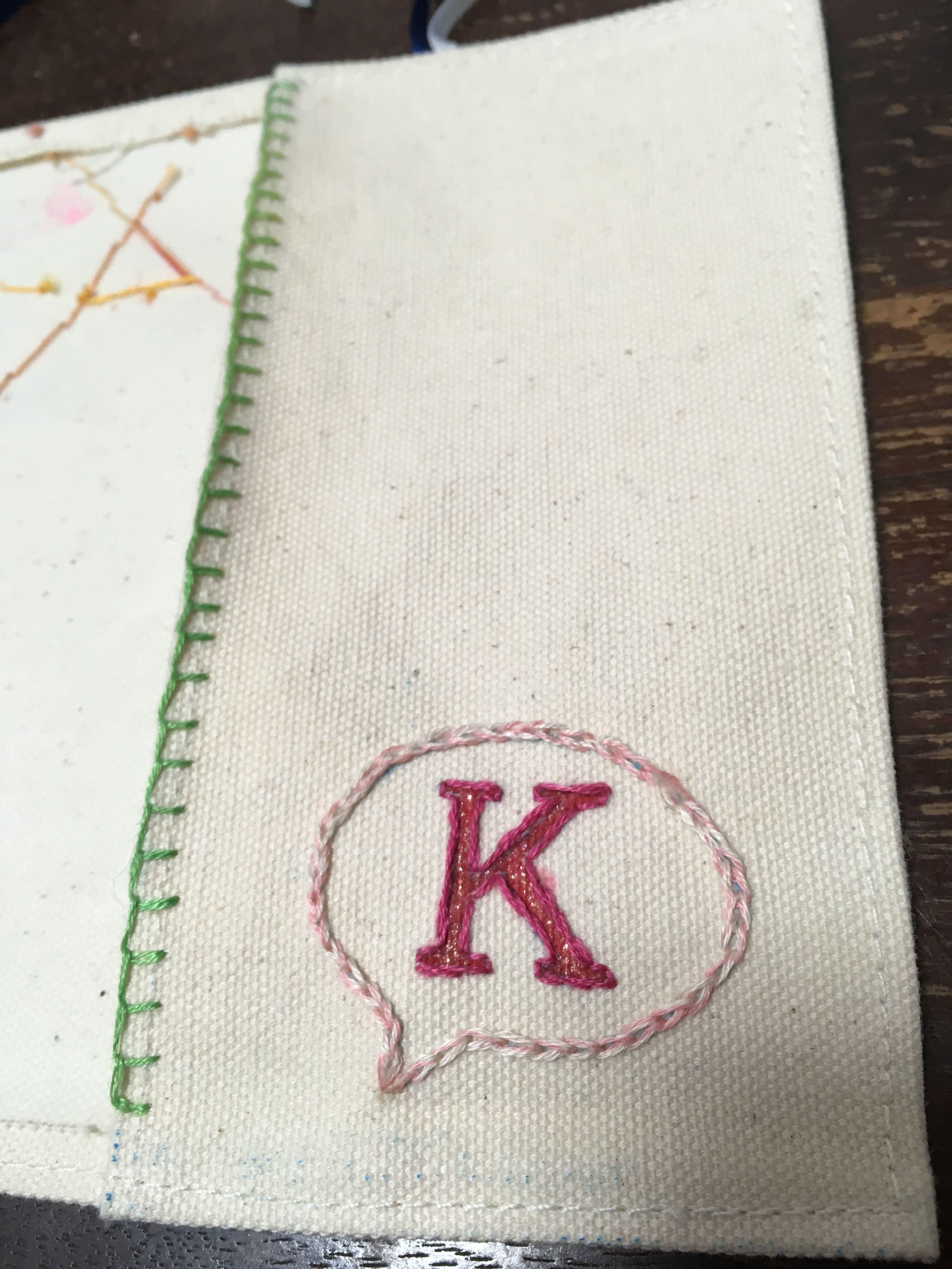 ブックカバー 刺繍