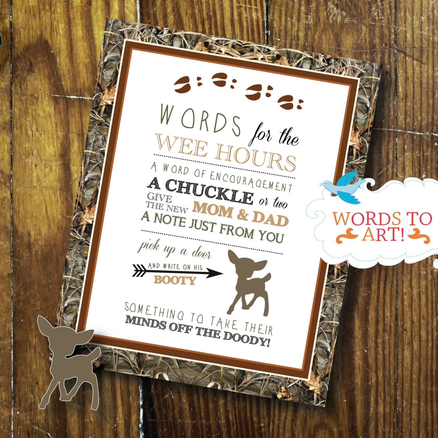 clever baby shower invitation wording%0A Camo baby showers