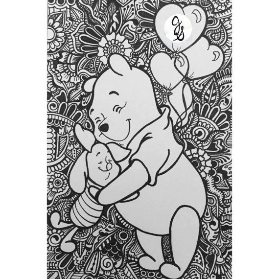 Pooh Bear and Friends Design by byjamierose on Etsy | Coloring pages ...