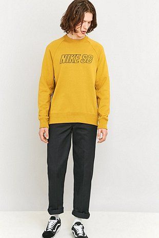 Nike Sb Everett Reveal Yellow Crewneck Sweatshirt Menswear 1