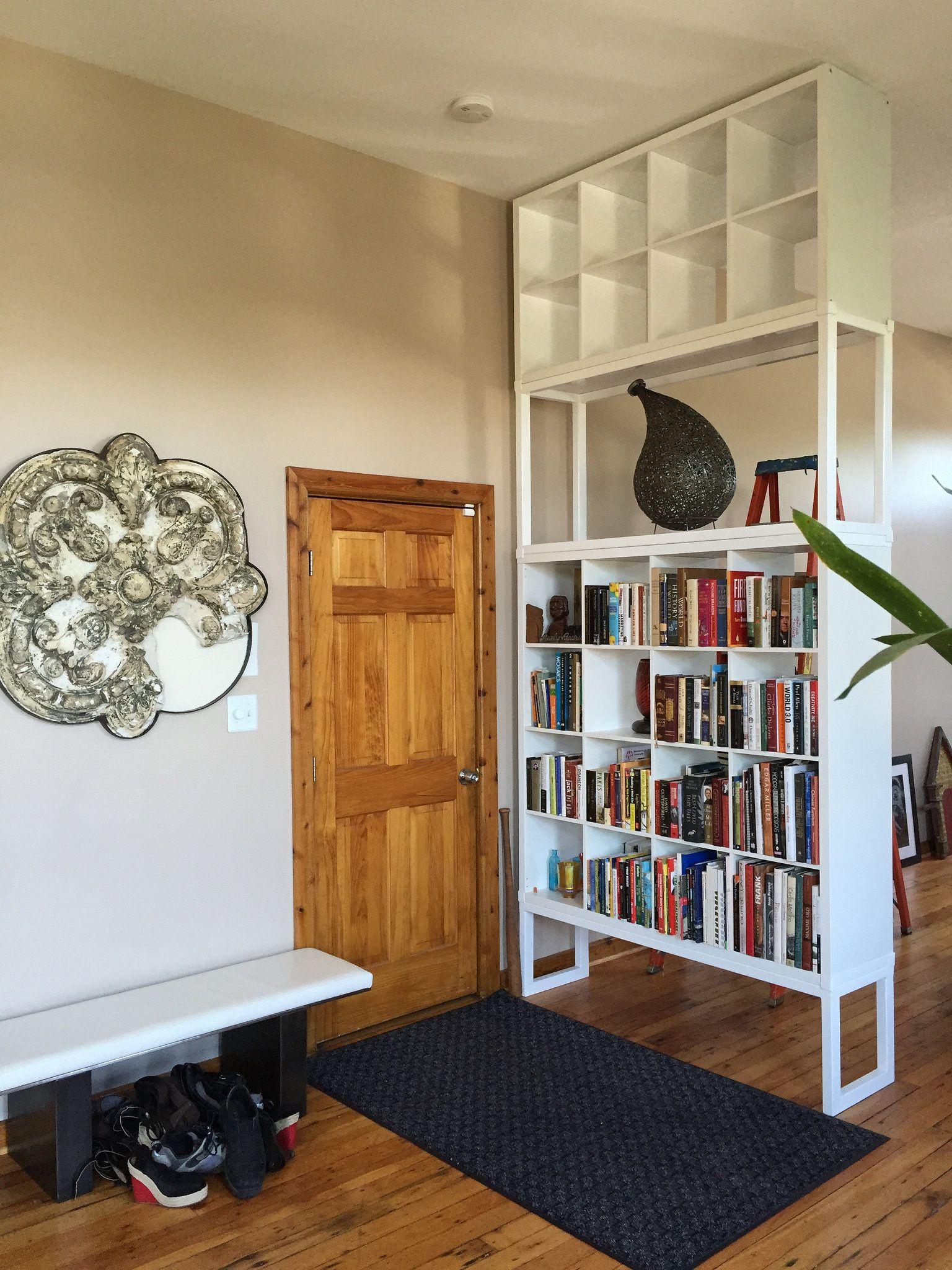 My Ikea Hack Kallax Becomes A Floor To Ceiling Bookshelf In 2019