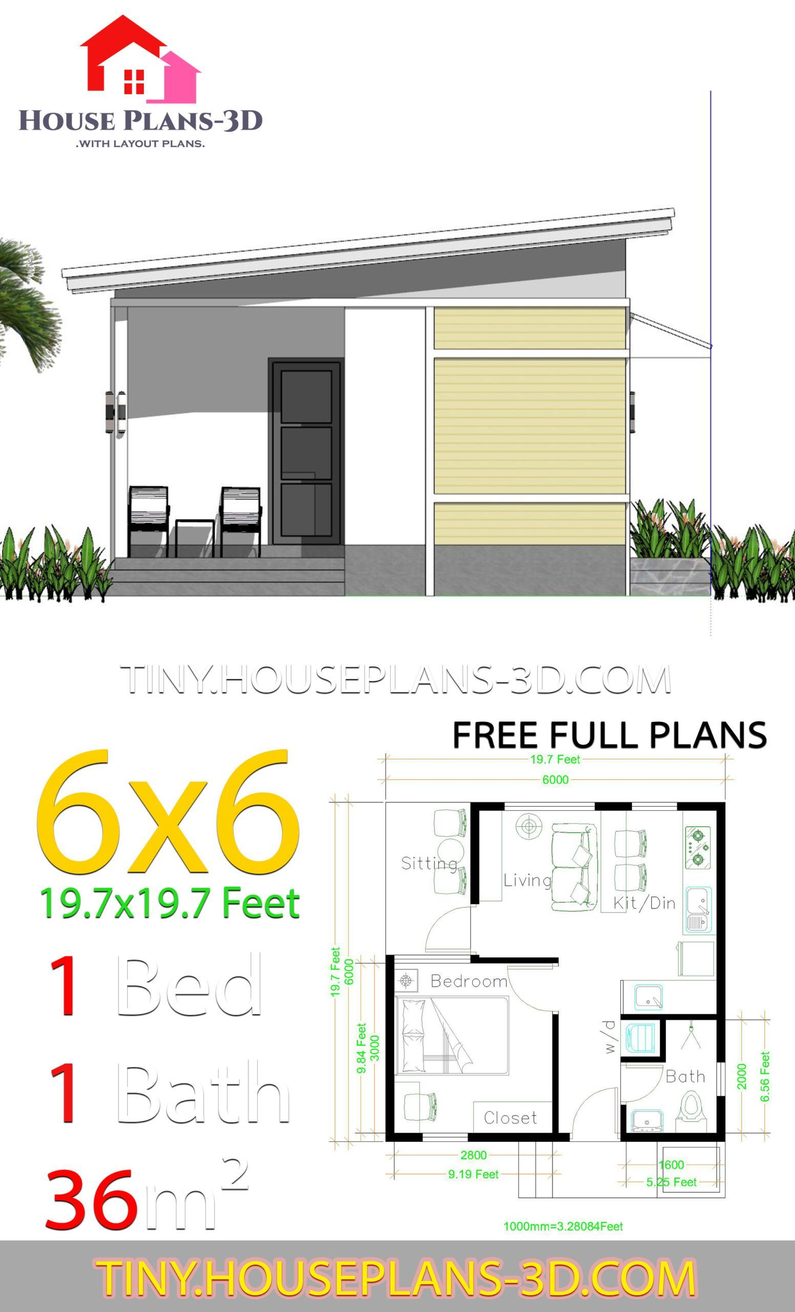 6x6 Bedroom House Plans Roof Shed Shed House Plans Space Tiny One Bed Room Space Plans 6x6 Wit House Plans Bedroom House Plans One Bedroom House Plans