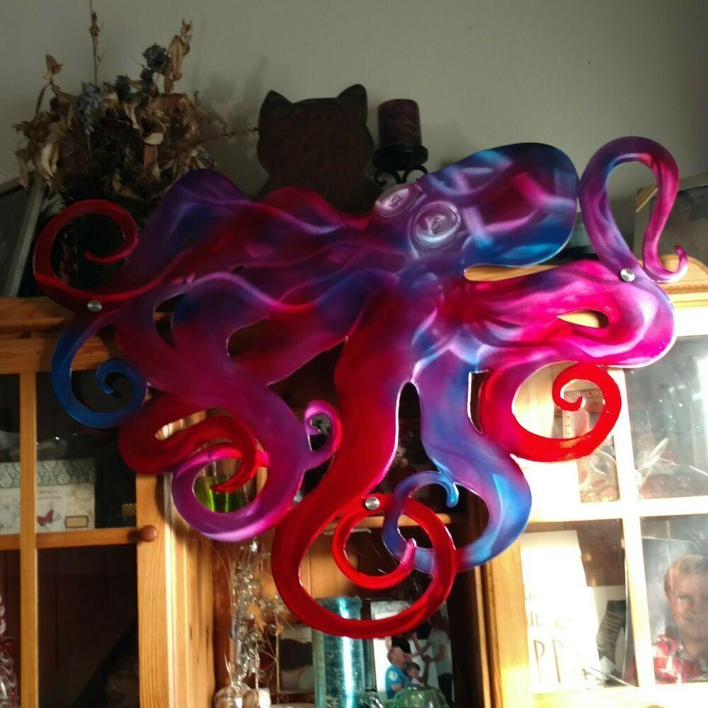 Large Octopus Sculpture Home Decor Patio Outdoor Wall Decor Art