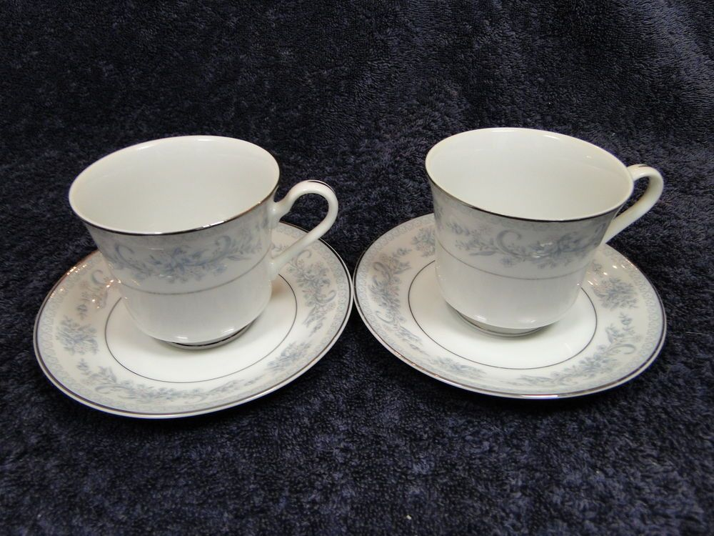 Mikasa Dresden Rose Footed Tea Coffee Cup Mug Saucer Set L9009 8 3/8 ...
