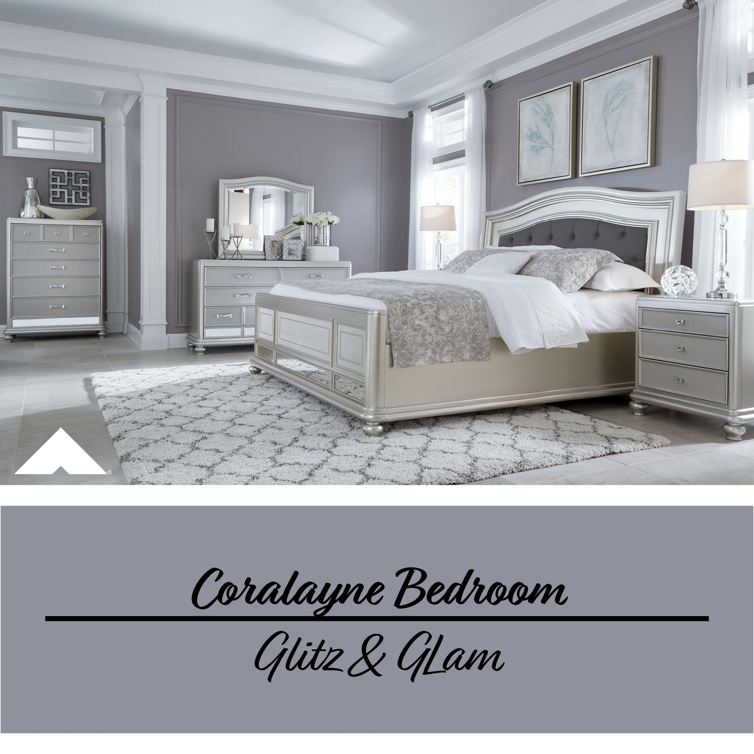Coralayne Silver Bedroom Set By Ashley Furniture.