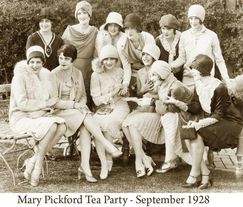 Mary Pickford Tea Party Held In September 1928 1920 S Style The Key Features The Explosion