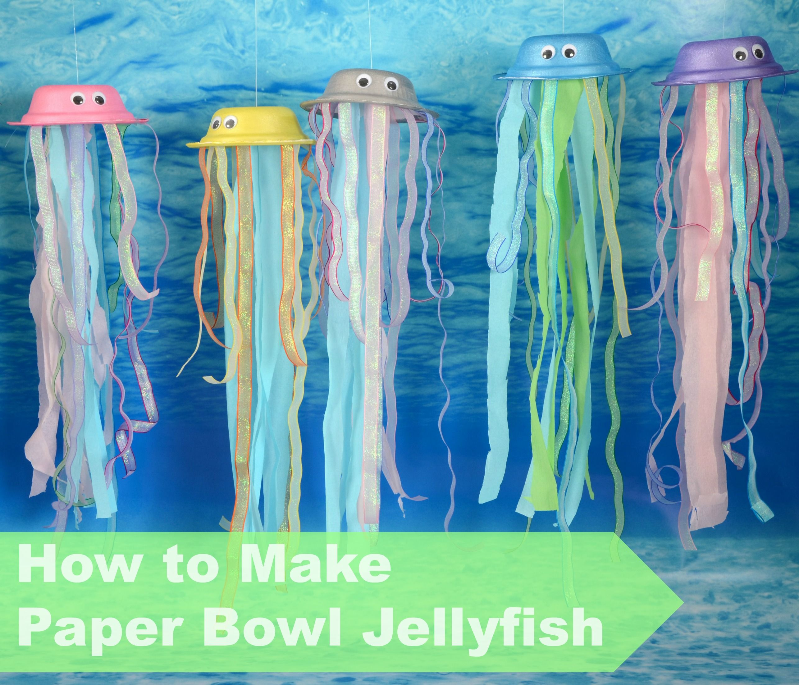 How to Make a Paper Bowl Jellyfish | Under the Sea Theme | Under the sea, Sea, Sea theme