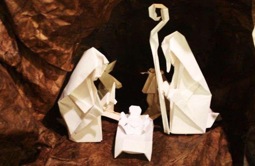 Presepe Con Bastoncini Di Legno : Presepe fai da te con gli origami presepe fai da te con origami