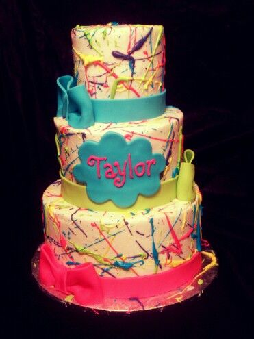 Splatter cake wwwfacebookcomcakesbymandyhughes Kids