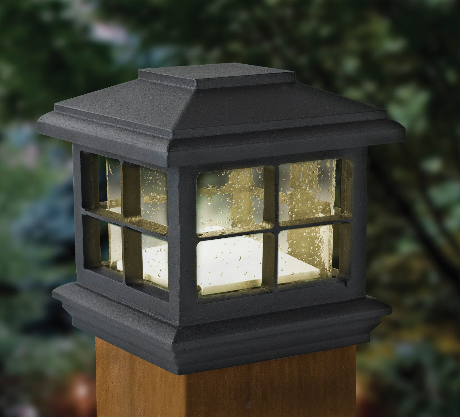 Patriot Lighting Low Voltage Led Melvin Post Cap With Black
