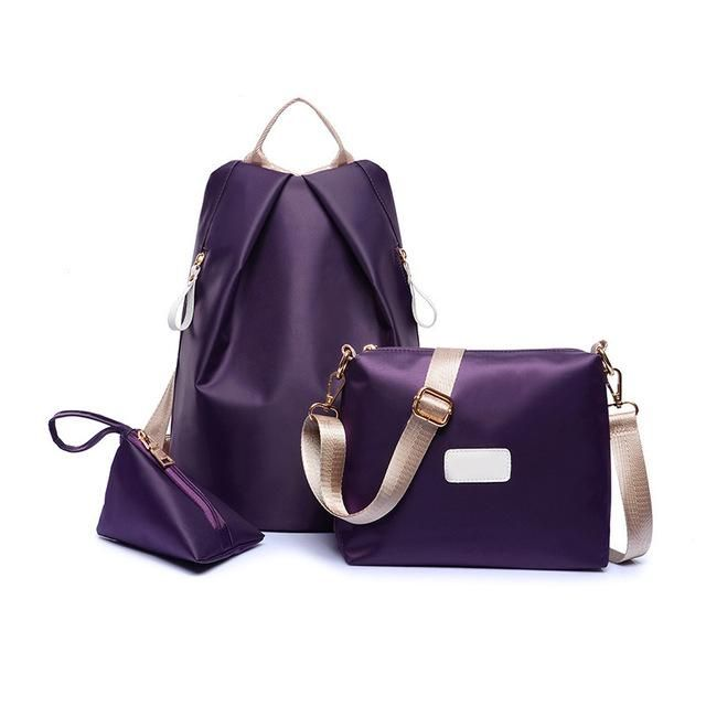 faa703ea5d51 Bokinslon Backpack Bags Women Nylon Fashion Grils Backpack Solid Color  Casual Student Bags For Ladies