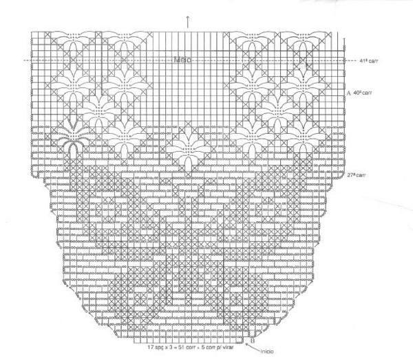 Caminho De Mesa De Croche Com Grafico De Borboleta 2 Jpg 600 520
