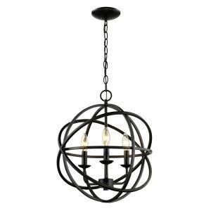 Bel Air Lighting 3-Light Rubbed Oil Bronze Pendant