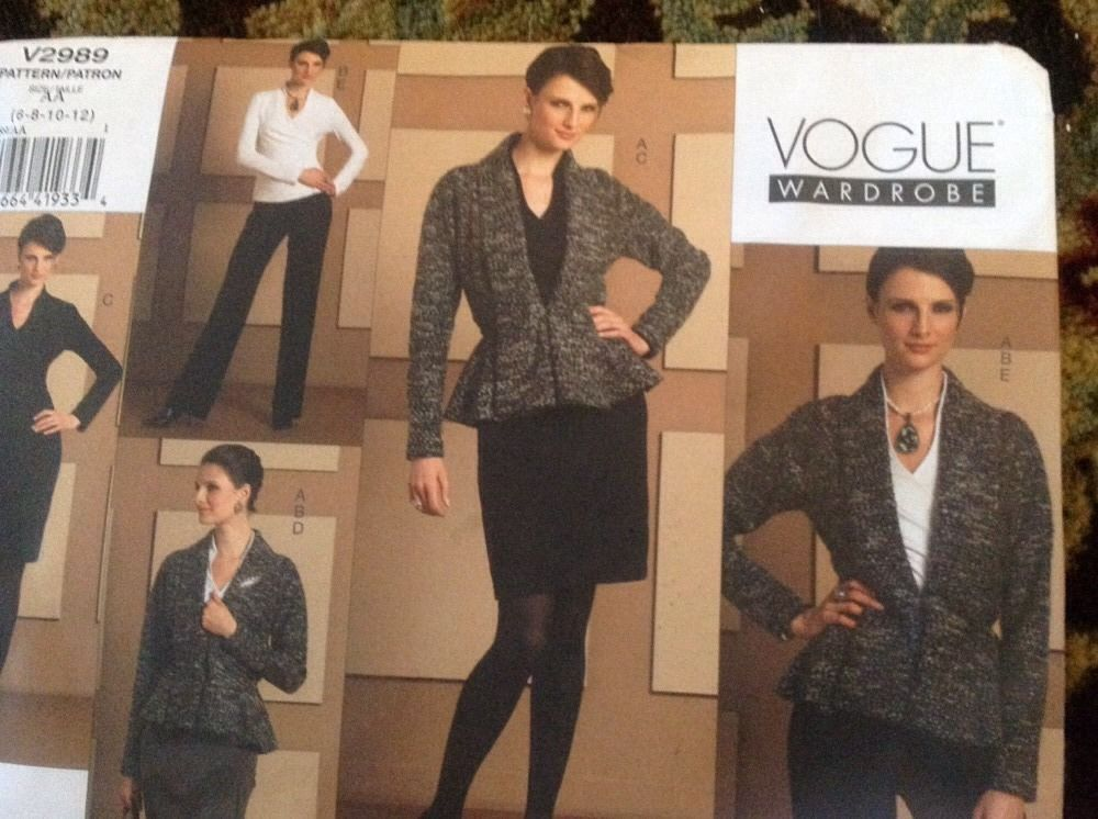 VOGUE WARDROBE Misses' Jacket, Dress, Skirt and Pants Pattern Sz 6-8-10-12 #VoguePatterns #Fashion
